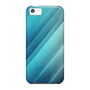 Hot Fashion Design Case Cover For Iphone 5c Protective Case (shining Blue Lines)