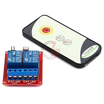 2 Channel 2CH 5V 12V 24V IR Infrared Remote Control Switch High-Current Relay Module Board LED Status Indicator