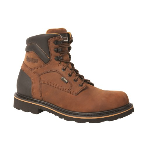 Rocky Governor 6in. Gore-Tex Waterproof Work Boot - Tan, Size 8 1/2 Wide, Model# RKYK001