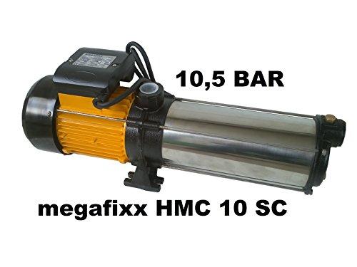 Mehrstufige professionelle Kreiselpumpe megafixx HMC10SC 2200 Watt bis 10,5 BAR - 10 Stufen - Laufräder aus Edelstahl
