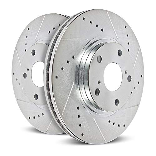 Power Stop EBR1603XPR Rear Evolution Performance Drilled, Slotted& Plated Brake Rotor Pair