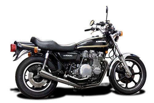 Complete 4-1 Classic System KZ1000LTD Stainless Steel with Megaphone Muffler