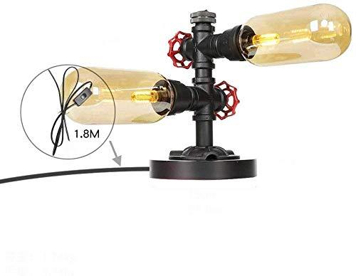 Creative Water Pipe Lámpara de mesa Industrial Retro Loft Style ...