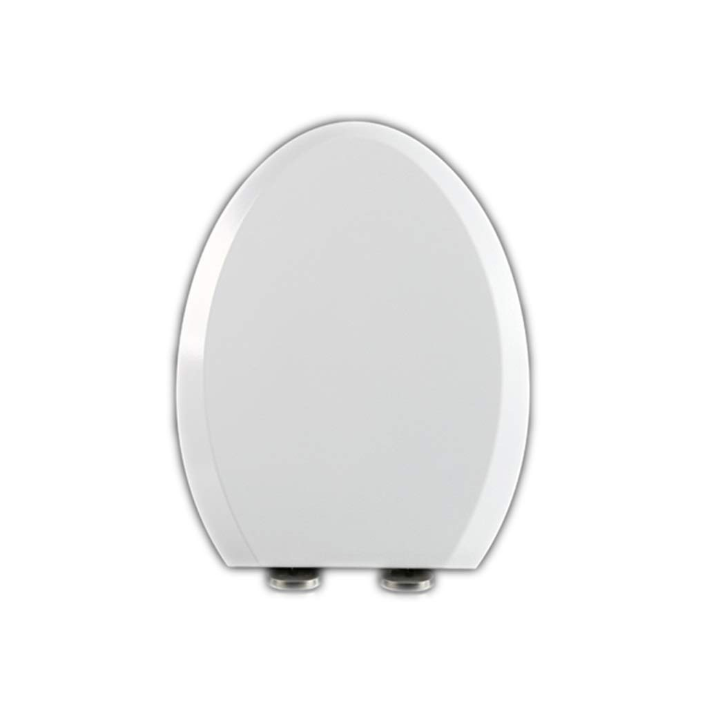 WXYPP Bianco Comodo Be Quiet Scratch Proof Addensare Toilet Seat Toilet Bowl Coperchio per WC Resistente Facile da Pulire Toilet Lid Design : U 01