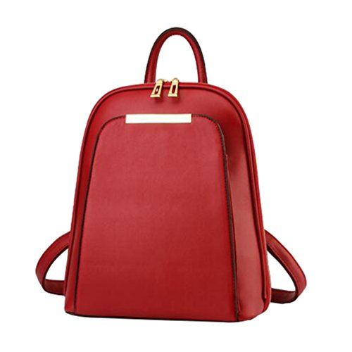 Hombro Totalizador YAANCUN Vintage De Escuela Bolso Rojo Vino Mochila Bolsa Estilo Mujeres w0prxw