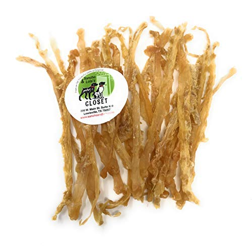 - 4oz Sancho & Lola's Smoked Turkey Tendons for Dogs - Single, Flat Tendon Rawhide Alternative Chews for Small Dogs - See Our Beef Tendons for Medium or Large Dogs