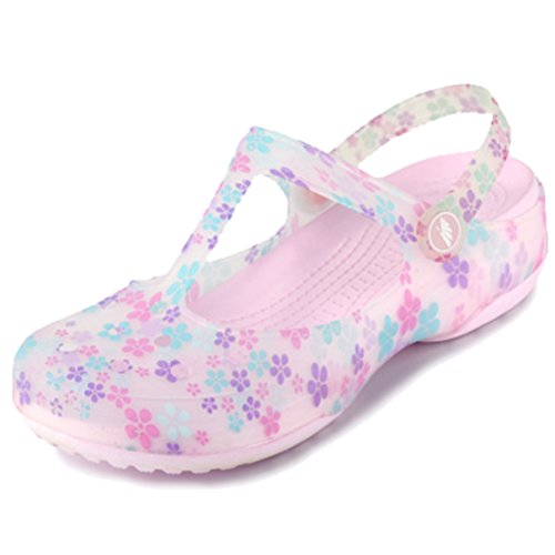 Respeedime Hole Shoes Summer Women's Beach Sandals Girls Soft Slippers Special Pink 5.5M