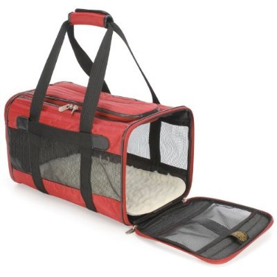 Orginal Deluxe Sherpa Pet Carrier Bag Large Red, My Pet Supplies