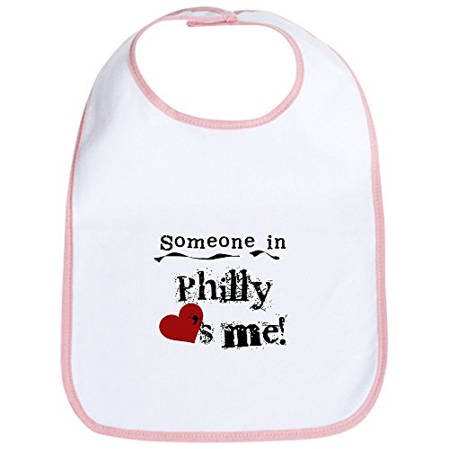 - CafePress - Philly Loves Me Bib - Cute Cloth Baby Bib, Toddler Bib