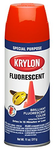 Krylon 3102 Fluorescent Indoor/Outdoor Aerosol Paint, 11 oz,