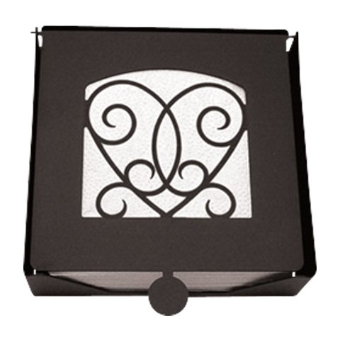 Village Wrought Iron NH-B-110 2-Piece Napkin Holder with Victorian Heart (Victorian Napkin Holder Heart)
