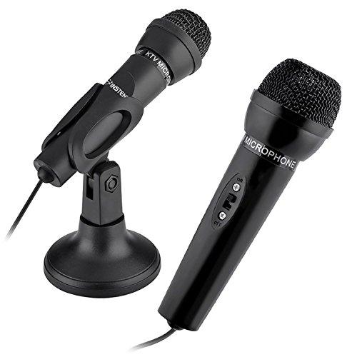 INSTEN 3.5mm Studio Speech Microphone with Stand, Black