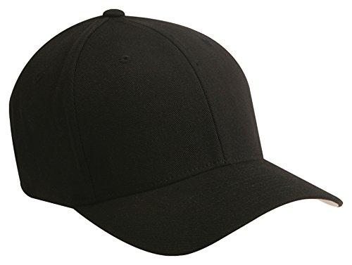 Yupoong Flexfit Wooly Baseball Cap, BLACK, Large / X-Large