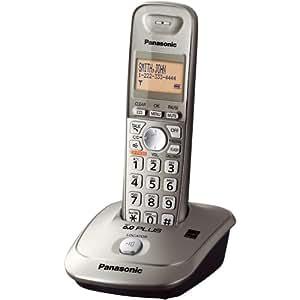 Panasonic KX-TG4011N DECT 6.0 PLUS Expandable Digital Cordless Phone, Champagne Gold, 1 Handset.