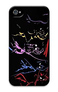 IMARTCASE iPhone 4S Case, Anime Characters Outline On Black PC Hard Plastic Case for Apple iPhone 4S and iPhone 4