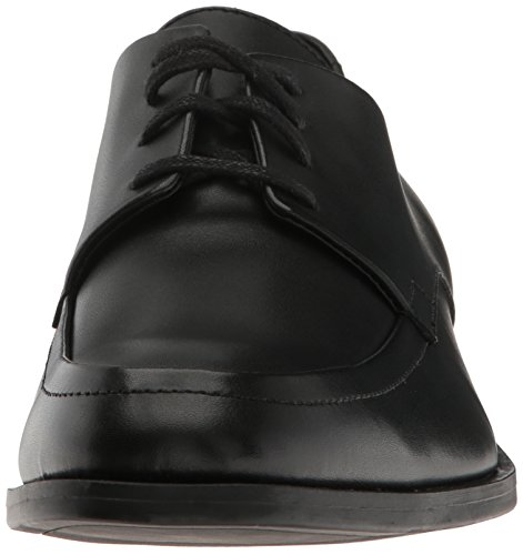 Calvin Klein Mens Draven Brushed Leather Oxford Black hCKVyw9