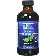 Green Pasture Blue Ice Fermented Cod Liver Oil Liquid, Arctic Mint, 8 fl oz