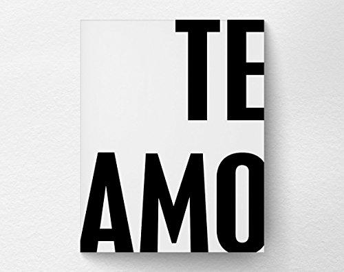Te Amo Romantic Spanish Quote I Love You Print, Valentines Day Gift Wall Art Decor, Anniversary Gift, 8x10 Print (Wall Valentine)