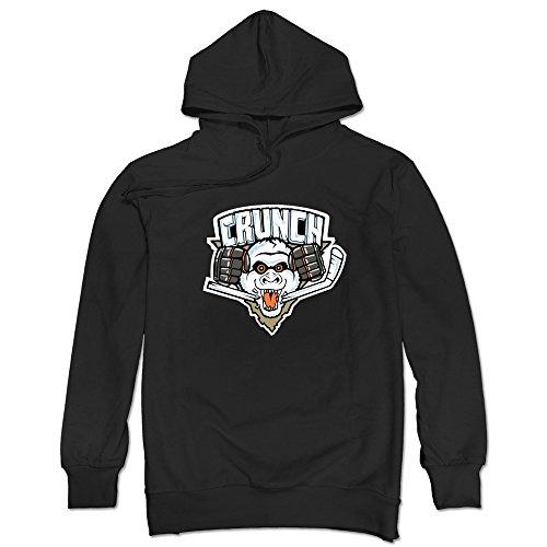 JUST Men's Hocke Logo Syracuse Crunch Hooded Sweatshirt Black