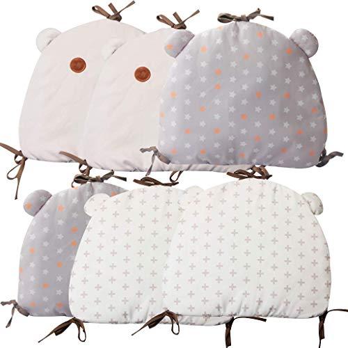 vocheer Baby Crib Bumper, 6PCS Infant Breathable Cradle Bumper Pads Newborn Cot Bumper Pads Bedding Set Cushion Toddler Nursery Decor