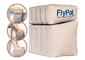 """Flypal Travel Foot Rest, SP103, PVC, Grey, Combined: 17"""" x 11"""" x 17"""""""