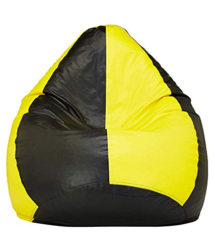 Styleco XXXL Bean Bag Cover Without Beans  Yellow and Black