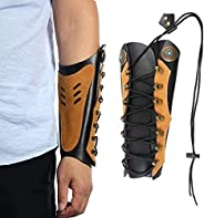 Huntingdoor Arm Guards Archery Leather Arm Protector Hunting Shooting Arrow Bow Gear Accessories, Pro Force Fo
