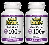 Vitamin E 400IU Pair Pack Natural Factors 90+90 Twin Pack Review