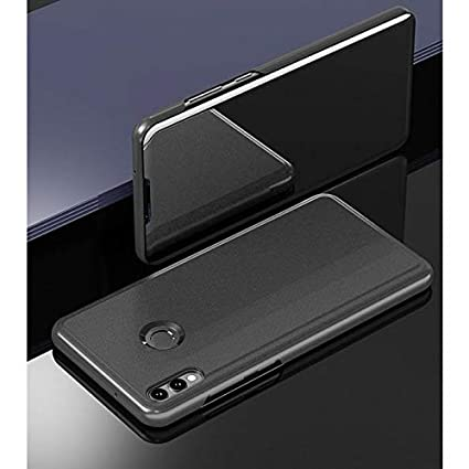 ERIT Honor 8X Clear View Flip Cover, Honor 8X Case, Honor 8X, Accessories  Clear View Standing Cover for Honor 8X, Luxury Mirror Clear View Flip Stand