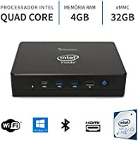 PC Mini Intel Quad Core 2.2Ghz,4GB,Porta Serial,Windows 10,32GB,WiFi,Bluetooth,HDMI,3green