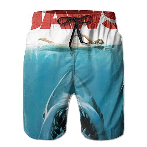NICOKEE Cool Swim Trunks for Men Jaws Biting Shark Naked Girl Swimming Summer Quick Dry Beach/Board Shorts]()