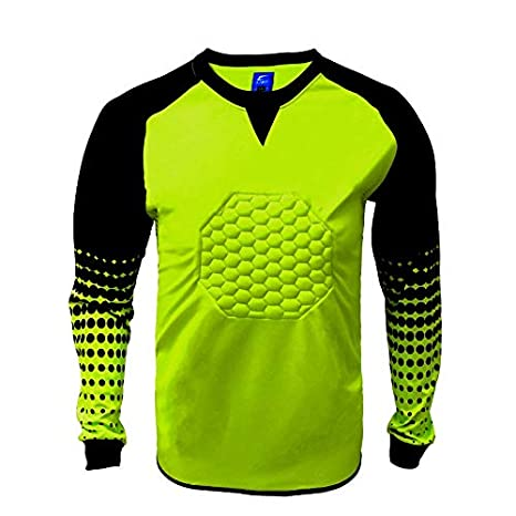 4b01543c266 Amazon.com: 1 Stop Soccer Soccer Goalkeeper Goalie Shirt Youth (Large,  Gold): Toys & Games