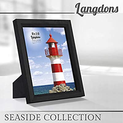 Langdons Picture Frames Set (1 Pack), Wall Mount or Table Top Photo Frames, Display Vertically or Horizontally Picture Frame, Seaside Collection