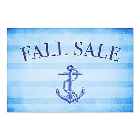30x20 Nautical Stripes Window Cling Fall Sale 5-Pack CGSignLab