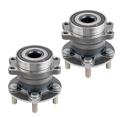 (2 DTA Rear Wheel Bearing Hub Assemblies Fits 2014-2017 Subaru Forester; 2013-2016 Impreza (None WRX Model); 2013-2017 XV Crosstrek, Crosstrek. Rear Wheel. NT512518 x2)