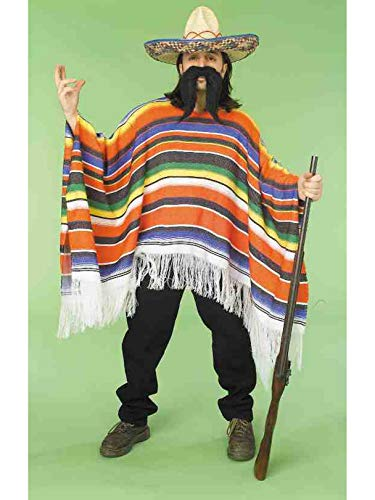 Forum Novelties Men's Adult Mexican Serape Costume, Rainbow, One Size ()