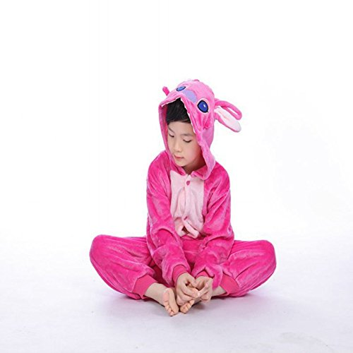 MH-RITA Children Pajamas Set Flannel Stitch Pijama Unisex Infantil Kids Girl & Boy Clothes Pyjama Roupas Infantis Menina Autumn & Winter,Pink Stitch,4T
