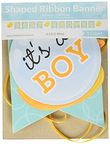 Creative Converting Rubber Ducky Baby Shower Letter Banner -