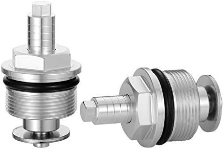 LANBAO Preload Fork Caps For Honda CB750F 1981-1982 CB900C 1980-1982 CX500 1982 35mm Hexagonal Adjustable Fork Bolts Black Silver