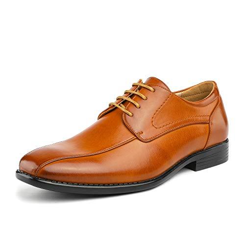 (Bruno Marc Men's DP03 Brown Square Toe Oxford Dress Shoes Size 9 M US)