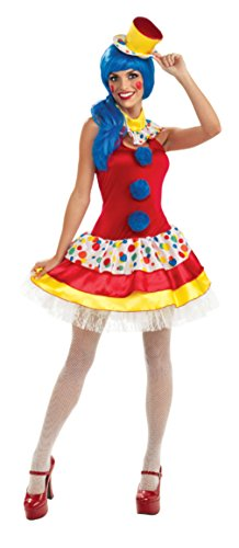 Rubies Womens Fancy Giggles The Sexy Clown Adults Theme Party Halloween Costume , L (10-14)