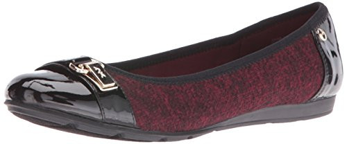 Ballet Women's Klein Able Flat Red Fabric Black Anne Sxwd6Ix