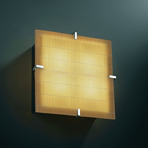 Justice Design 3FRM-5557-FIZZ-CROM 3form - Four Light Square Wall Sconce, Choose Finish: Polished Chrome Finish, Choose Lamping Option: GU24 Fluorescent Non-Dimming (Polished Chrome Wall Sconce Lamp)