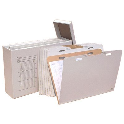 Vertical Flat File System Filing Box (Set of 8) Size: 29'' H x 42'' W x 12'' D by Advanced Organizing Systems (Image #1)
