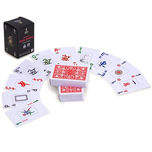 rts 178 Mahjong Playing Cards - Can Play Both American and Chinese Mahjong Play ()