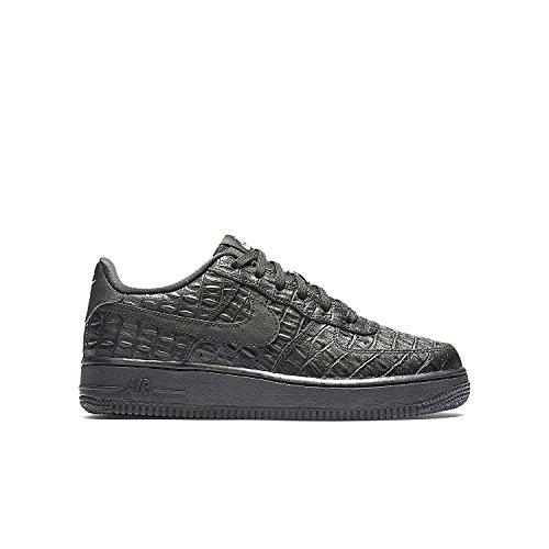 NIKE Kids Air Force 1 Premium (GS) Basketball Shoe Black/Black