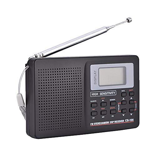 [해외]SODIAL 미니 FM 라디오 휴대용 라디오 수신기 지원 FMAMSWLWTV 사운드 전체 주파수 라디오 수신기 지원 자명종 노인 (9K) / SODIAL Mini FM Radio Portable Radio Receiver Support FMAMSWLWTV Sound Full Frequency Radio Receiver Support Alarm C...