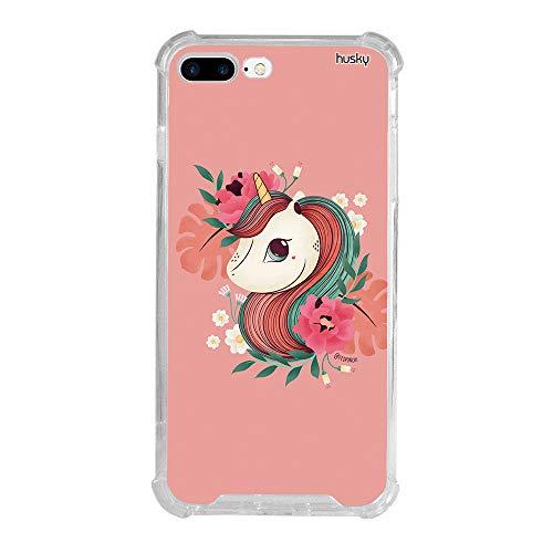 Capa Anti-Impacto Personalizada para Iphone 8 Plus - Unicórnio Floral -...