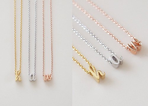 Delicate Initial Necklace Personalized Bridesmaid