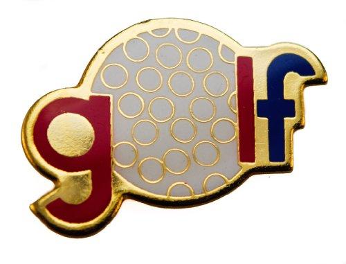 Pga Shoe Bag (Golf Script & Ball 1 inch hat or lapel pin AK384)